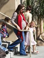 <p>A heavily pregnant Jennifer Garner hangs out with her girls. Picture: Snappermedia</p>  <br />