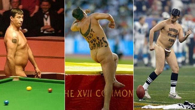 "Englishman Mark Roberts is a ""professional streaker"" having disrupted more than 500 events."
