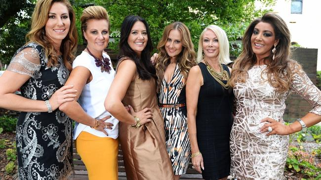 The Real Housewives of Melbourne cast Andrea Moss, Chyka Keebaugh, Lydia Schiavello, Jackie Gillies, Janet Roach and Gina Liano.