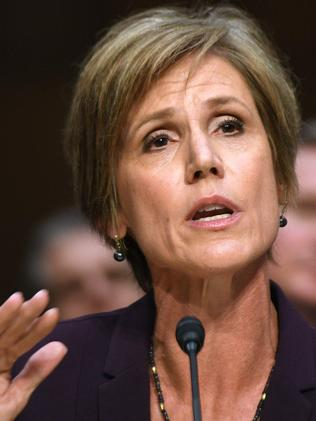 Former acting Attorney-General Sally Yates. Picture: AFP