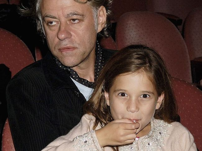 Bob Geldof with Tiger Lily, October 19, 2005 in London. Photo: Dave M. Benett/Getty Images.