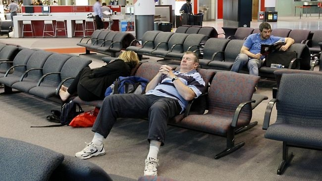 Flights were cancelled and other passengers were delayed after Qantas staff stopped work for two hours. Picture: John Grainger