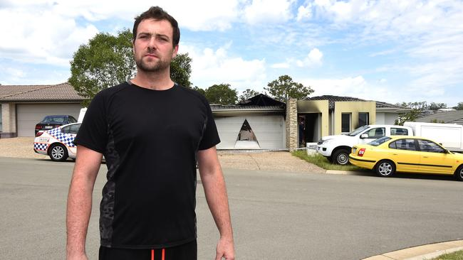 Matthew Bartholmew pulled a teen from a burning house. Picture: AAP/John Gass)