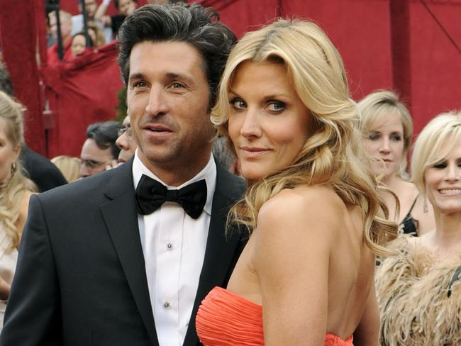 Patrick Dempsey, left, and his wife, Jill Fink in 2008.