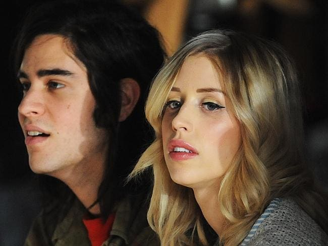 Shock death ... Peaches Geldof, seen with husband Thomas Cohen at 2013 London fashion show, has been found dead aged 25. Picture: Getty