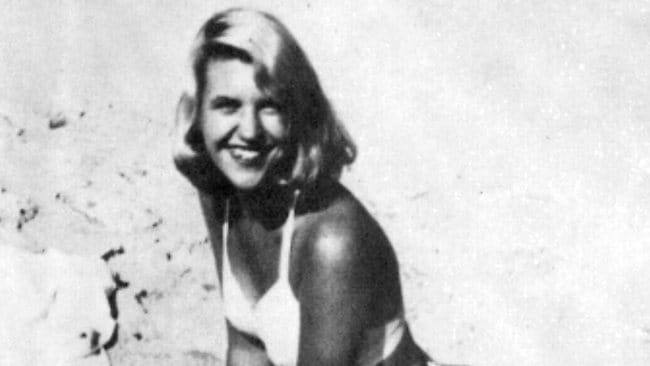 Poet Sylvia Plath on beach in 1954. P/ Supplied