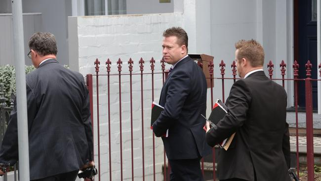 Detectives have conducted four raids this morning in relation to NRL salary cap rorts. Picture: Carly Earl