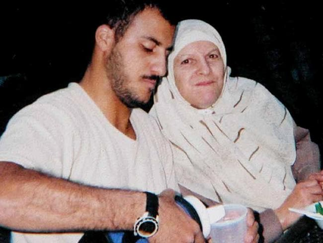 US Marine Corporal Wassef Ali Hassoun who was thought to have been taken hostage and beheaded in Iraq but was found alive at USA Embassy in Lebanon, with his mother in USA.