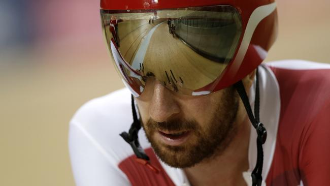 Bradley Wiggins isn't happy about the advertising at the Glasgow velodrome