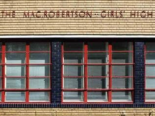 Mac.Robertson Girls High School building. Picture; Supplied