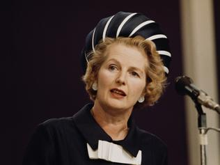 Former British PM Margaret Thatcher.