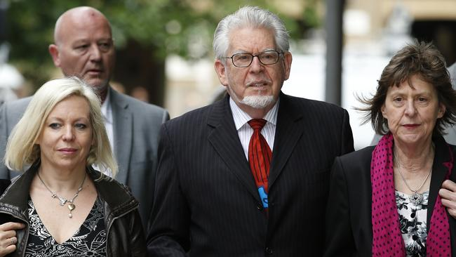 Awaiting a decision ... Australian entertainer Rolf Harris arrives with his daughter Bindi, left, at Southwark Crown Court in London. Picture: Alastair Grant