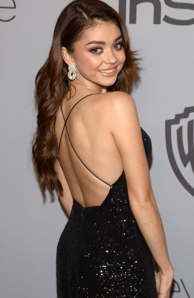 Actor Sarah Hyland at the 19th Annual InStyle And Warner Bros Pictures Golden Globe After-Party. Picture: AFP.