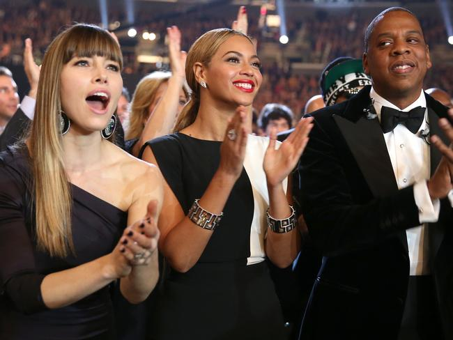 Jay-Z throws shade at Jessica Biel.
