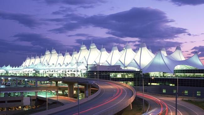 Denver airport was opened in 1995 but almost immediately people began to question whether it was hiding something. Picture: Denver International Airport