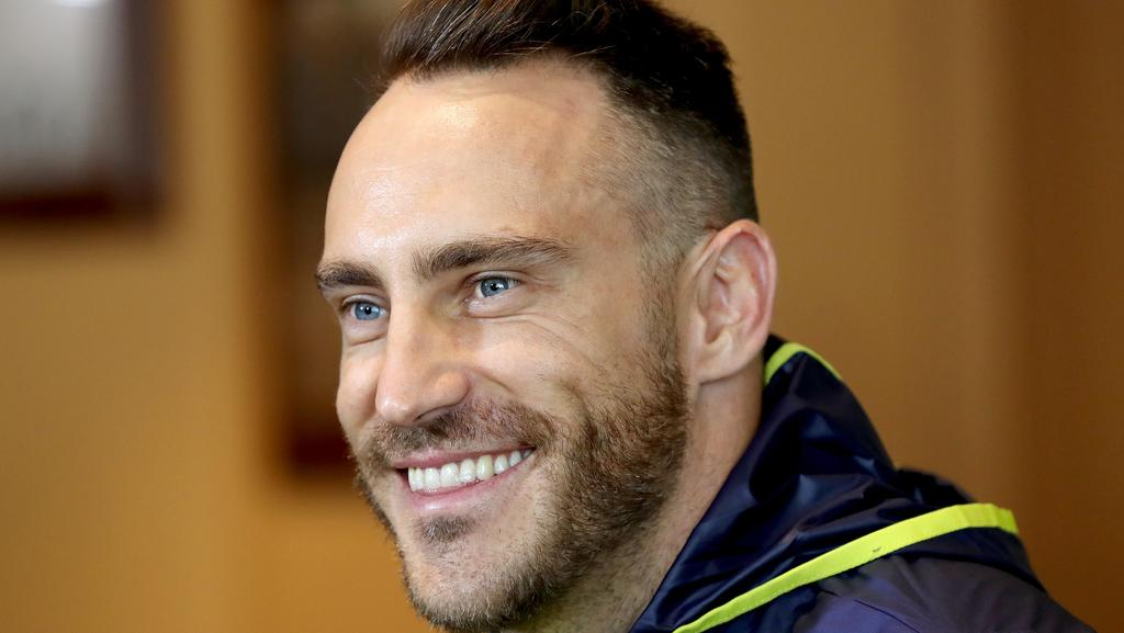 South African captain Faf du Plessis says Australia is ... Faf Du Plessis