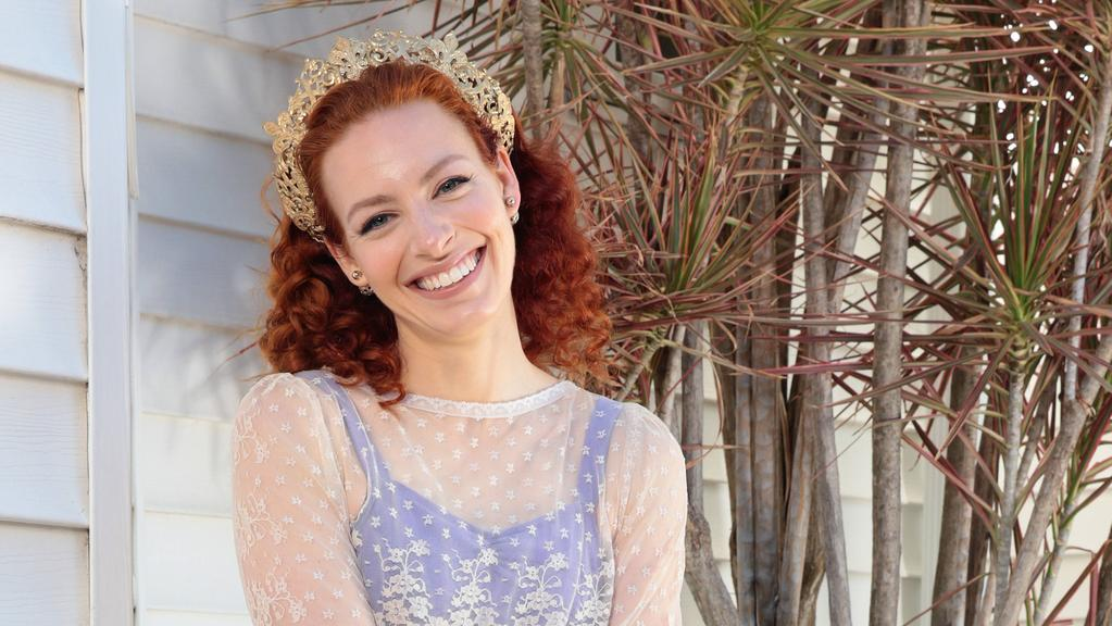 Yellow Wiggle Emma Watkins with some of her favourite things at home. Pictures: John Fotiadis