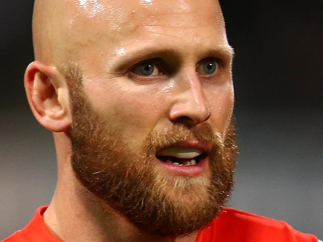 PERTH, AUSTRALIA - AUGUST 05: Gary Ablett of the Suns looks on during the round 20 AFL match between the Fremantle Dockers and the Gold Coast Suns at Domain Stadium on August 5, 2017 in Perth, Australia.  (Photo by Paul Kane/Getty Images)