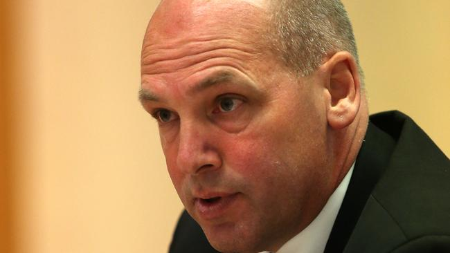 Prudent ... President of the Senate, Senator Stephen Parry defends original burqa ban. Picture: Kym Smith/News Corp.