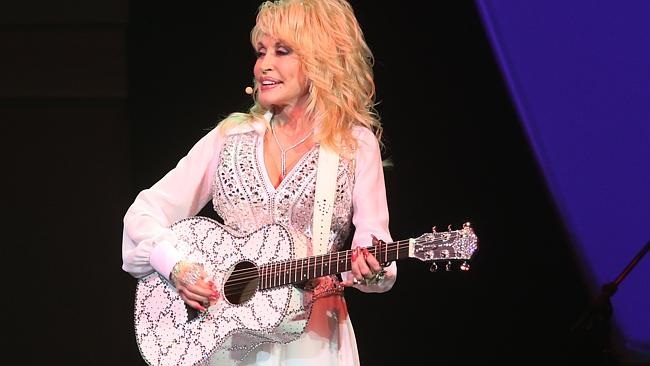 Entertaining ... Dolly Parton performing at the Qantas Credit Union Arena at Darling Harb