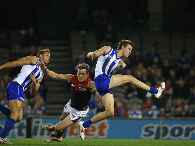 Kayne Turner kicked four goals against Melbourne in Round 23. Picture: George Salpigtidis