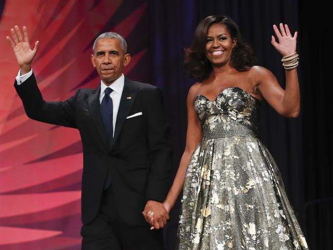 Donald Trump has accused Barack Obama (pictured with wife Michelle Obama) of wire-tapping Trump Tower. Picture: AP Photo/Pablo Martinez Monsivais