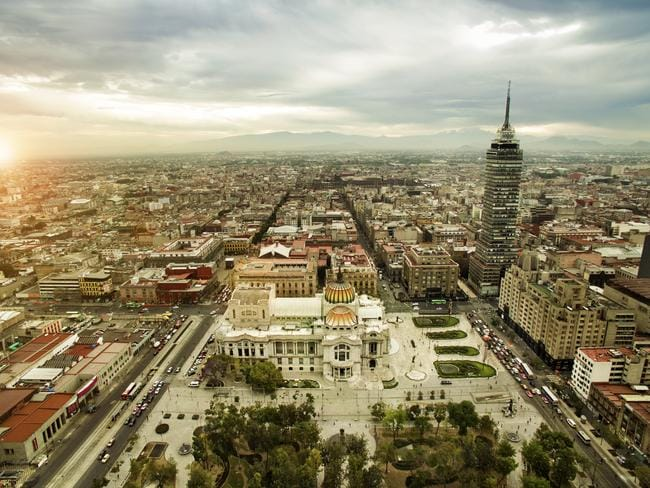Mexico City has been built up since the 1980s.