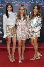 The McClymonts arrives at the 31st ARIA Awards at The Star, in Sydney, Tuesday, November 28, 2017. Picture: AAP Image/Dan Himbrecht