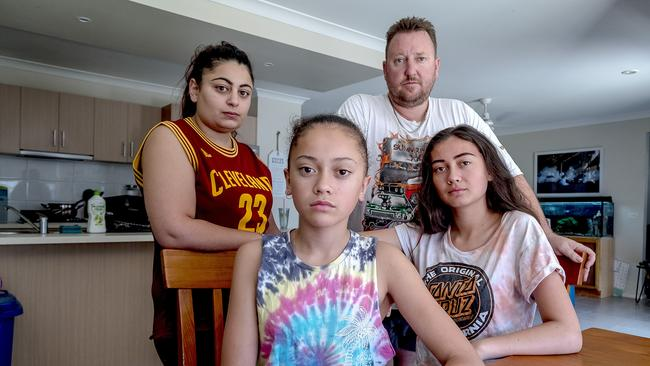 The Beaton family is moving to Queensland because of the crime they've experience in Melbourne. Picture: Luis Enrique Ascui/ News Corp Australia.