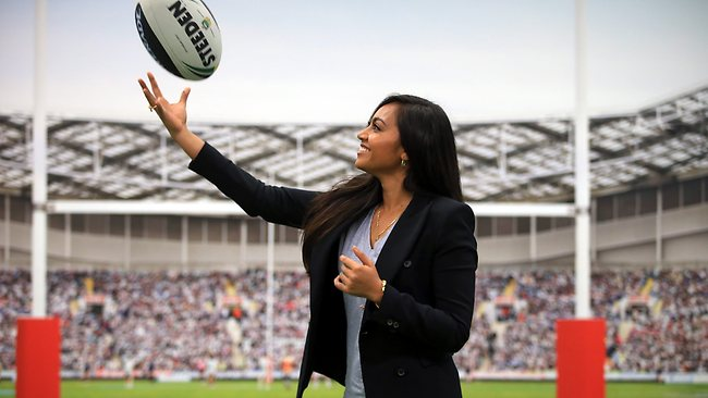 Jessica Mauboy stars in the new NRL ad campaign. Picture: Mark Evans