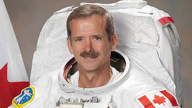 astronaut answers questions in space -#main