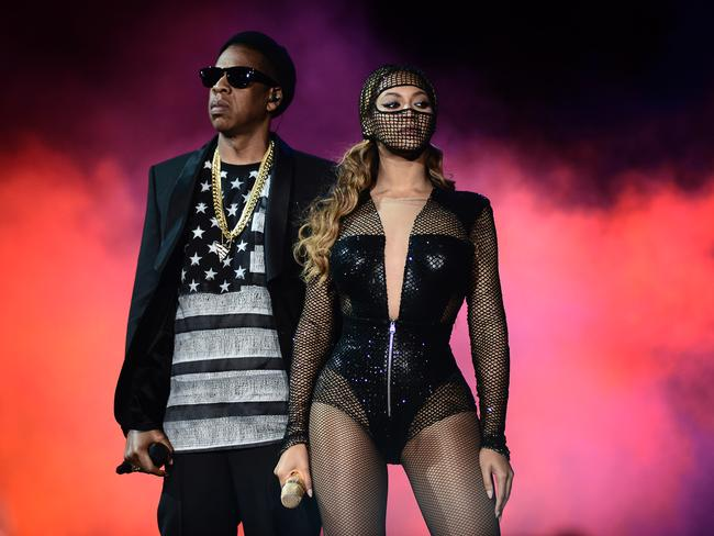 United front ... The superstars are struggling to keep their marriage together, with Jay Z determined to woo back his wife. Picture: Mason Poole/ AP