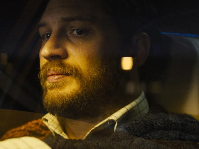 Unsure of the end ... Tom Hardy in a scene from the movie Locke.