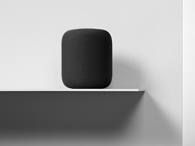Apple's first smart speaker is smaller than a football, though heavier at 2.5kg. .