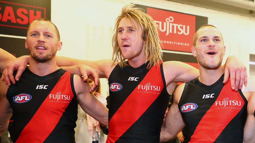 James Kelly, Dyson Heppell and David Zaharakis. (Photo by Scott Barbour/Getty Images)