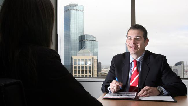 Hays managing director Nick Deligiannis interviews a candidate in person.