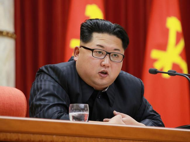 North Korean leader Kim Jong-un, seen delivering a speech at a national awards ceremony for nuclear scientists who contributed to the country's January 12, 2016 nuclear test, may force the Doomsday Clock forward.