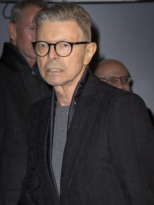 Last public photo ... David Bowie arrives at the premiere of the musical Lazarus. Credit: Price/face to face