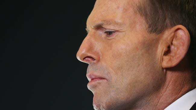 Tony Abbott at a press conference. Picture: Photo by Scott Barbour/Getty Images