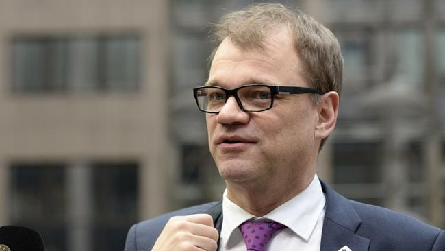 Finland's Prime minister Juha Sipila. Picture: AFP PHOTO / THIERRY CHARLIER