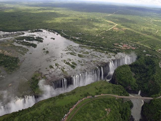 Victoria Falls in Zimbabwe and Zambia. Picture: John Swords.