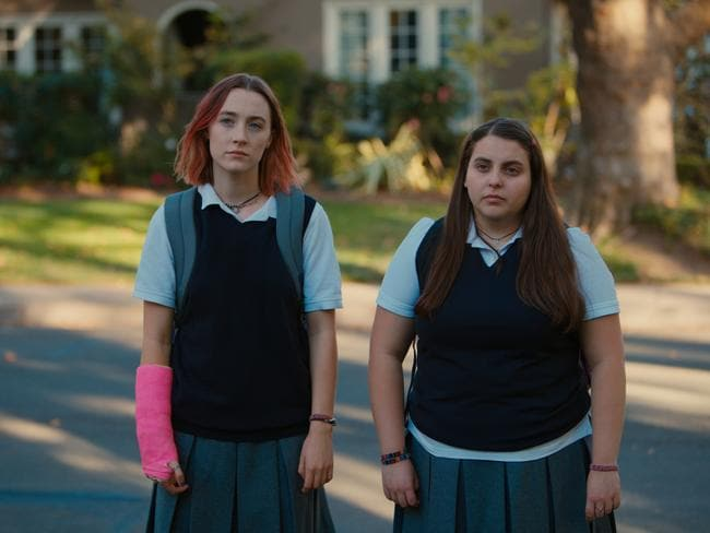 Saoirse Ronan and Beanie Feldstein in Lady Bird. Picture: Universal Pictures.