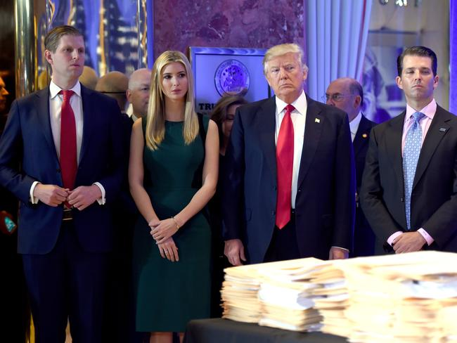 US President-elect Donald Trump's lawyer says he will turn over control of his company to his sons, while his daughter, Ivanka, will resign. Picture: AFP/Timothy A Clary