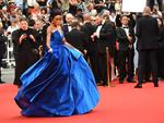 Winnie Harlow poses as she arrives on May 18, 2017 for the screening of the film 'Loveless' (Nelyubov) at the 70th edition of the Cannes Film Festival in Cannes, southern France. Picture: AFP