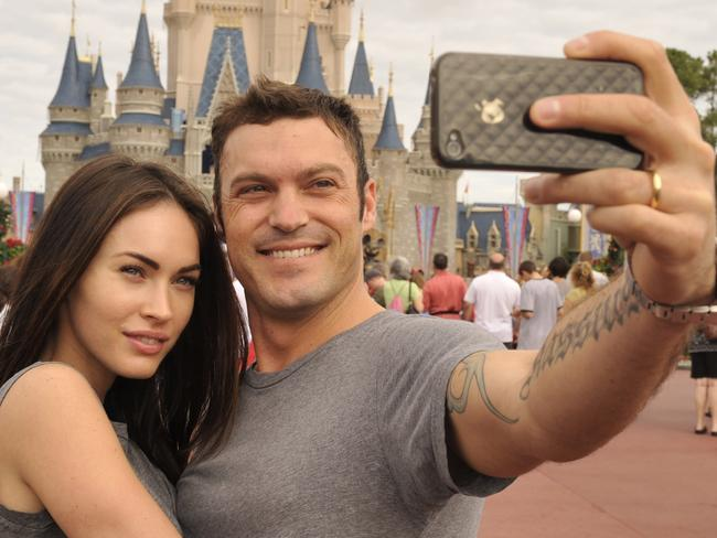 No longer in the picture ... Brian Austin Green (right) and his wife, actress/model Megan Fox (left), have split after 11 years together. Picture: Getty