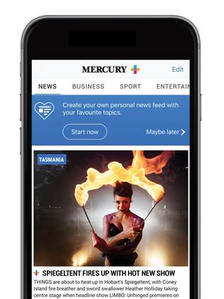Subscribe and get full access to the <i> Mercury</i> app.