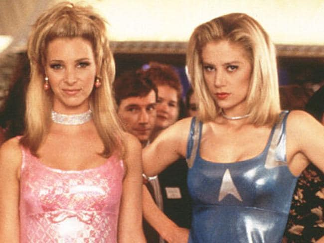 Lied about inventing Post-Its ... Lisa Kudrow and Mira Sorvino in Romy and Michele's High School Reunion. Picture: Supplied