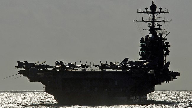 The aircraft carrier USS George Washington prepares to conduct a refueling at sea. Picture: DoD / Petty Officer 3rd Class Michael D. Blackwell II, U.S. Navy.