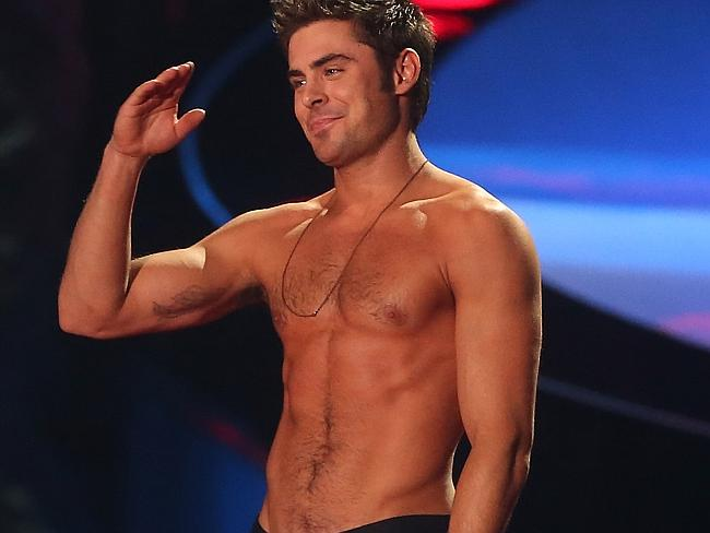 Zac Efron is willing to show it all.
