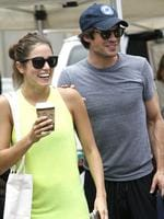 It seems Vampires really do bring people together. New couple Twilight's Nikki Reed and Vampire Diaries' Ian Somerhalder have been spotted together around town. The two were spotted walking around the farmers market together side by side in Studio City, California. Picture: Splash